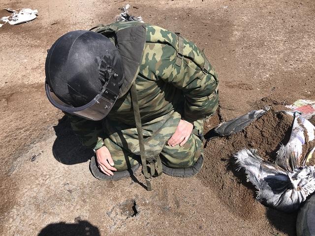 Взрывотехники обезвредили боевую мину в Биробиджане