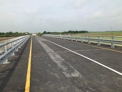 Открыто движение по мосту через реку Залив в Октябрьском районе