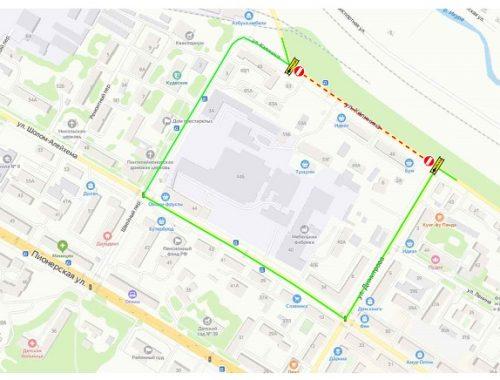 Временно закрыли участок дороги по ул. Калинина в Биробиджане