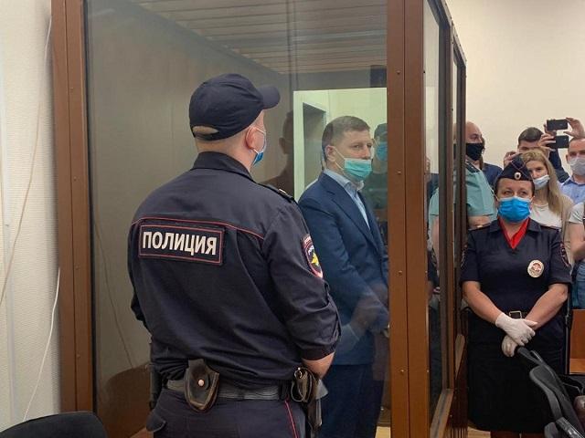 Суд арестовал губернатора Фургала и двух депутатов Хабаровского края