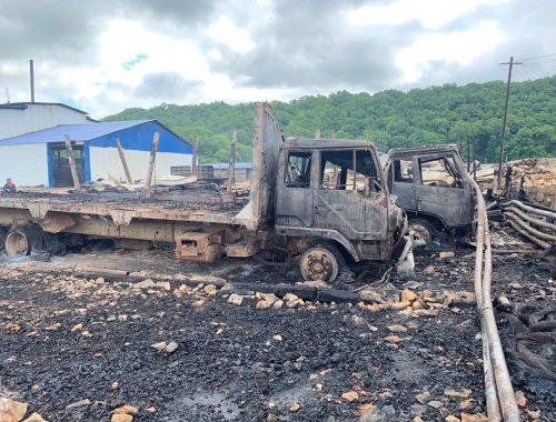 Четыре лесовоза, два гаража и десять тонн угля сгорели в ЕАО