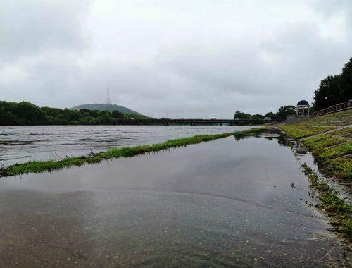 Река Бира поднялась на 30 см за сутки