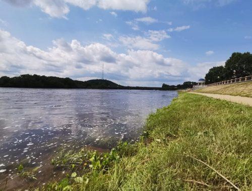 За выходные дни уровень воды в Бире упал на 50 см
