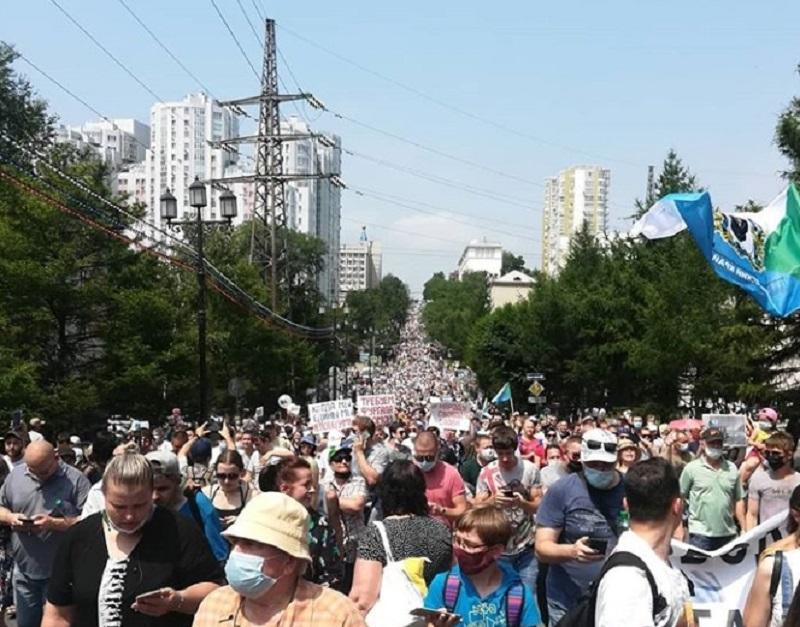 Исследование: почти половина россиян поддерживает протесты в Хабаровском крае