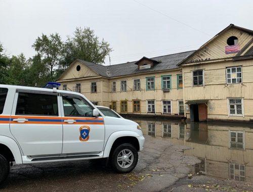 Большой потоп в Биробиджане: 14 человек эвакуировали из-за прошедших ливней