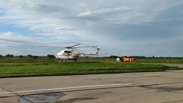 Маленького пациента доставили вертолетом из Биробиджана в Хабаровск