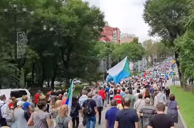 Очередную акцию в поддержку Фургала провели в Хабаровске