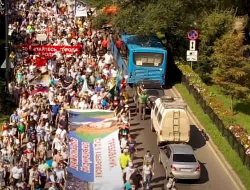 Девятую субботу подряд хабаровчане вышли на акцию протеста