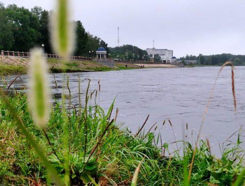 Уровень воды в реках Биробиджана продолжает расти