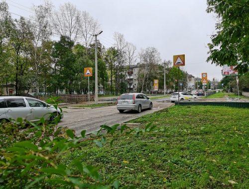Раньше срока открыли участок дороги по ул. Пионерской в Биробиджане