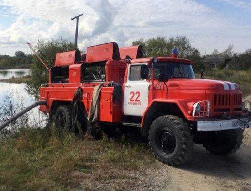 На борьбу с паводком в ЕАО прибыли пожарно-насосные станции из Приморья