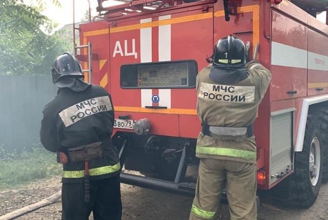 На месте пожара в ЕАО обнаружено тело мужчины