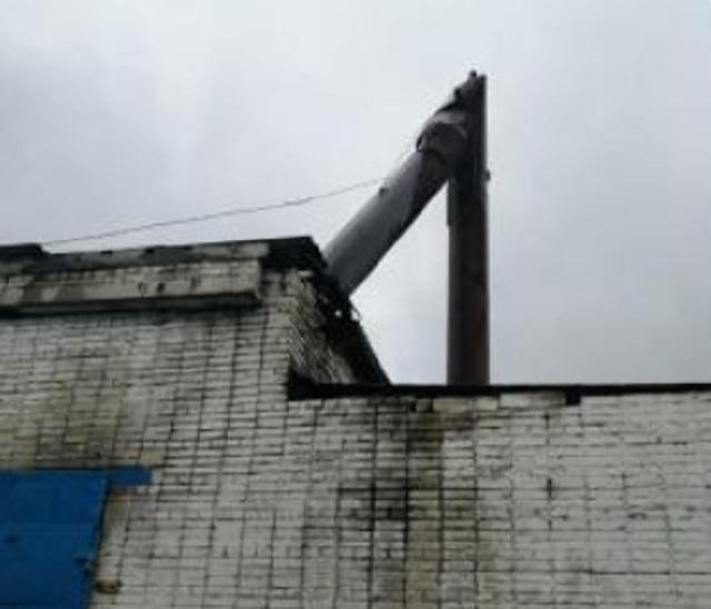Дымовая труба обрушилась на котельной в ЕАО