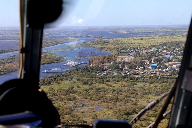 Масштаб паводка в ЕАО оценили с воздуха
