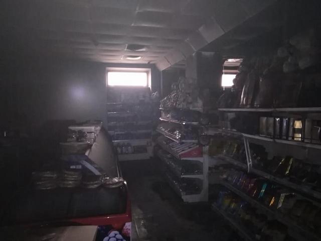 В Биробиджане вспыхнул магазин