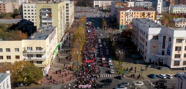 Спустя неделю после жестких задержаний хабаровчане вновь вышли на акцию протеста