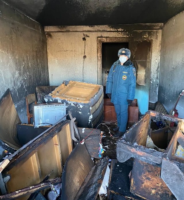 Дважды за сутки тушили один и тот же дом огнеборцы ЕАО