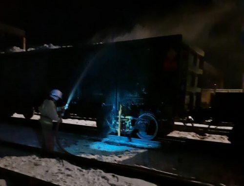 Полувагон с серой загорелся на станции Ин в ЕАО