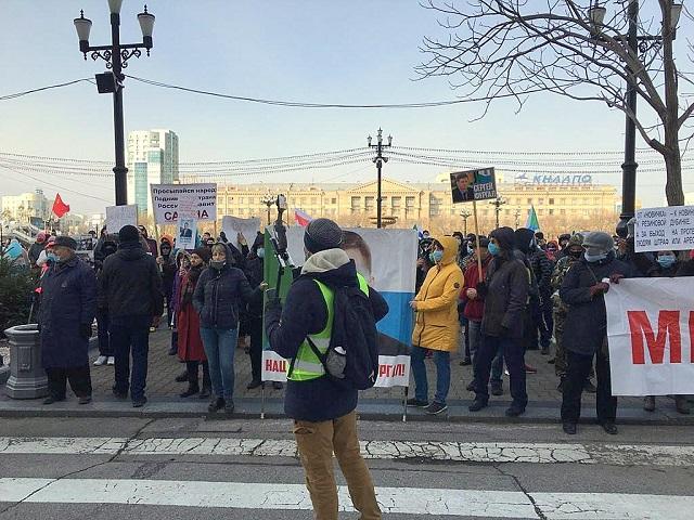 Протестующим хабаровчанам выписали штрафов на 2,5 млн рублей