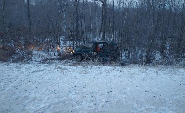 Три пассажира пострадали в ДТП на трассе в ЕАО