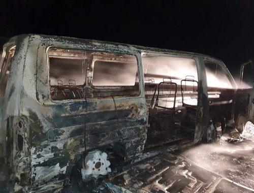 Маршрутный микроавтобус вспыхнул в ЕАО