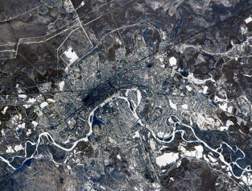 Космонавт опубликовал снимок Биробиджана из космоса