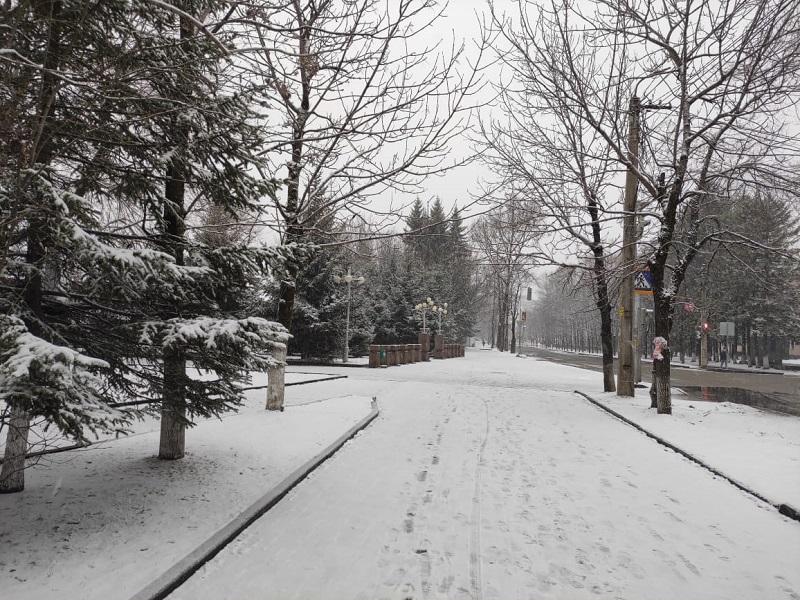 Зима вернулась в Биробиджан