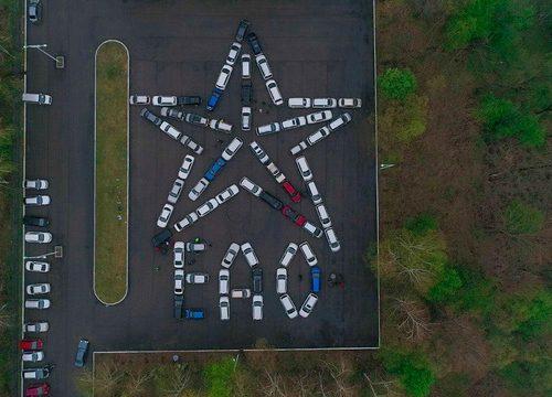 Звезду из машин выстроили автоклубы ЕАО в честь Дня Победы