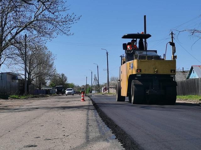 Как идут работы по ремонту дорог в Биробиджане