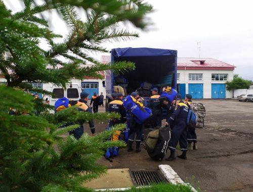Аэромобильная группировка спасателей выехала в Ленинский район
