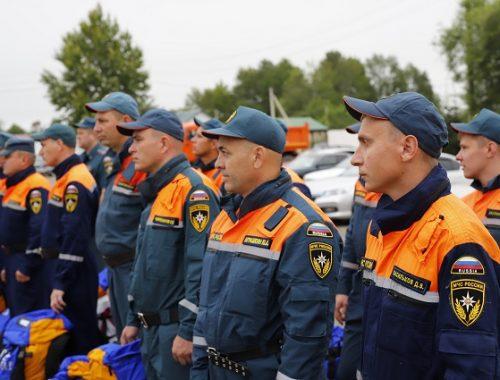 В Ленинский район выехала аэромобильная группировка МЧС