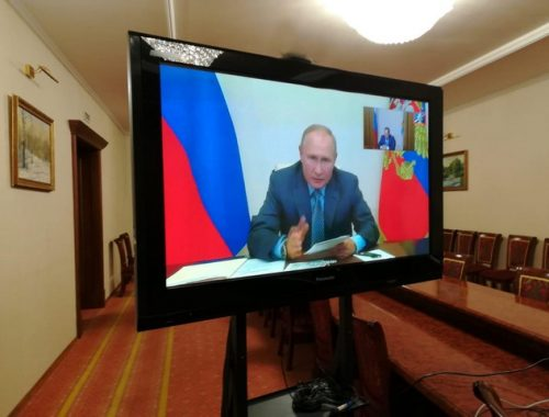 Губернатор ЕАО доложил о паводковой ситуации в регионе президенту РФ Владимиру Путину