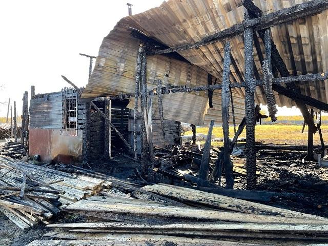 Цех по производству пиломатериалов сгорел в Биробиджане
